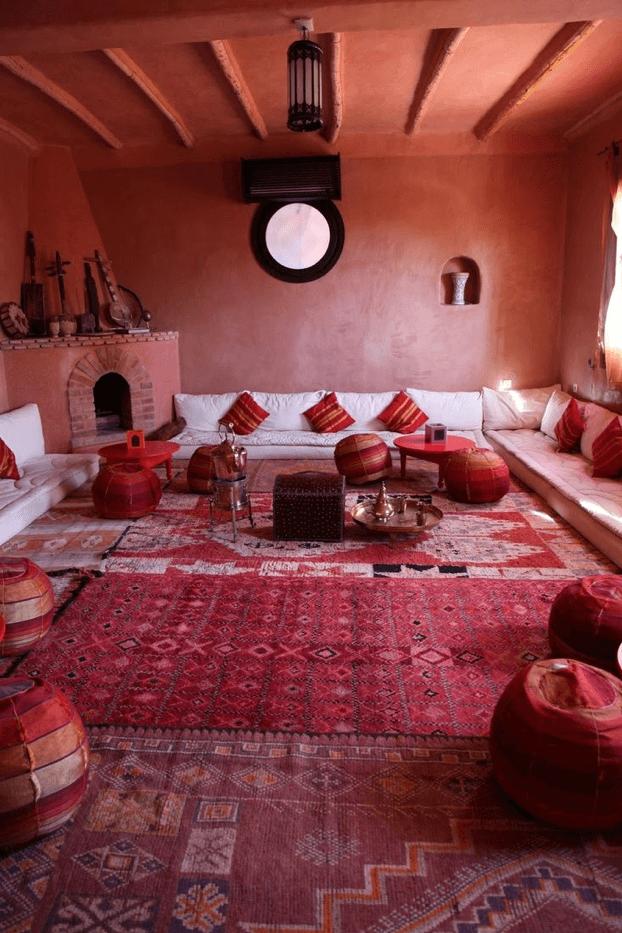 Salon Marocain berbère en intérieur