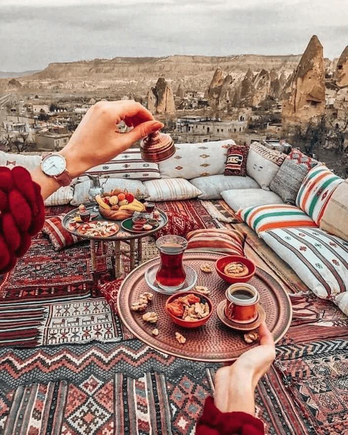 Salon berbère au Maroc