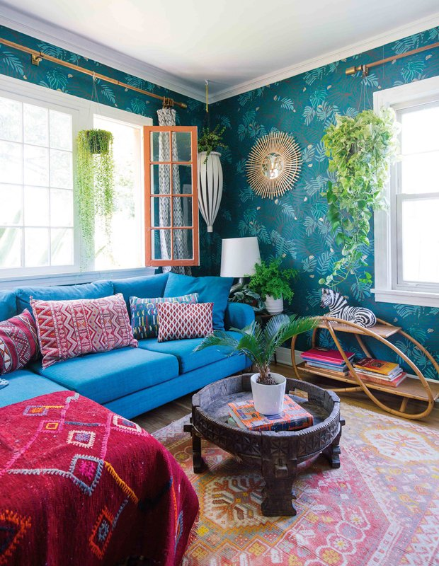 salon marocain coloré