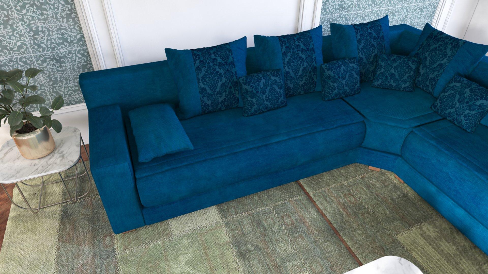 couleur pour salon bleu