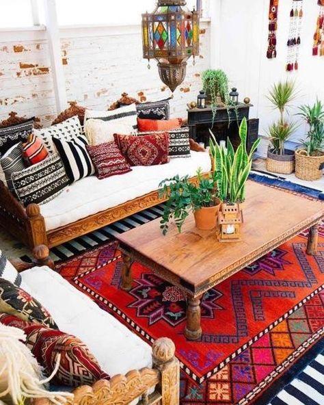 salons marocains modernes boheme