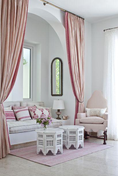 couleur pour salon rose