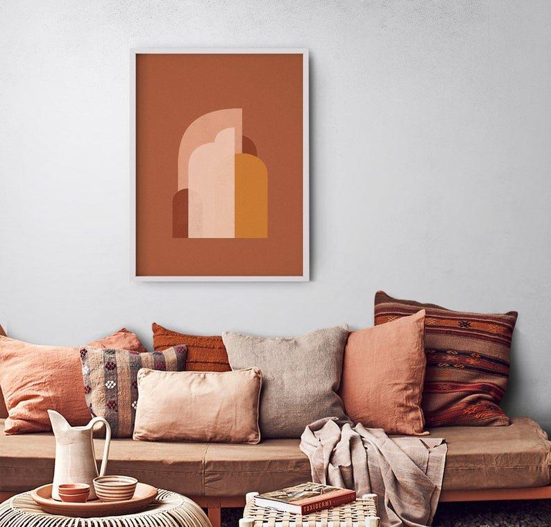 couleur pour salon terracotta