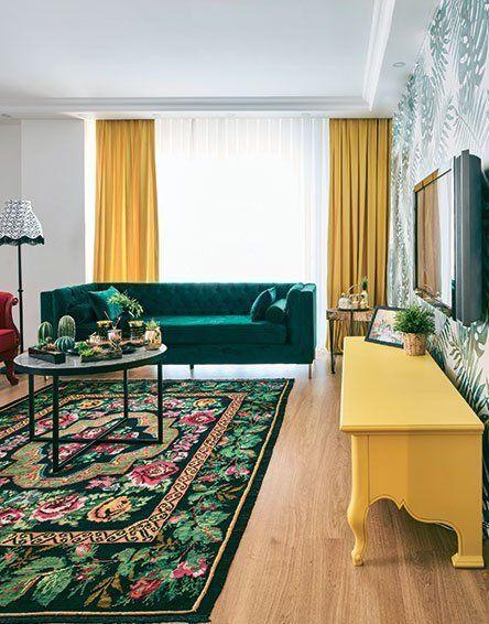 couleur pour salon vert et jaune