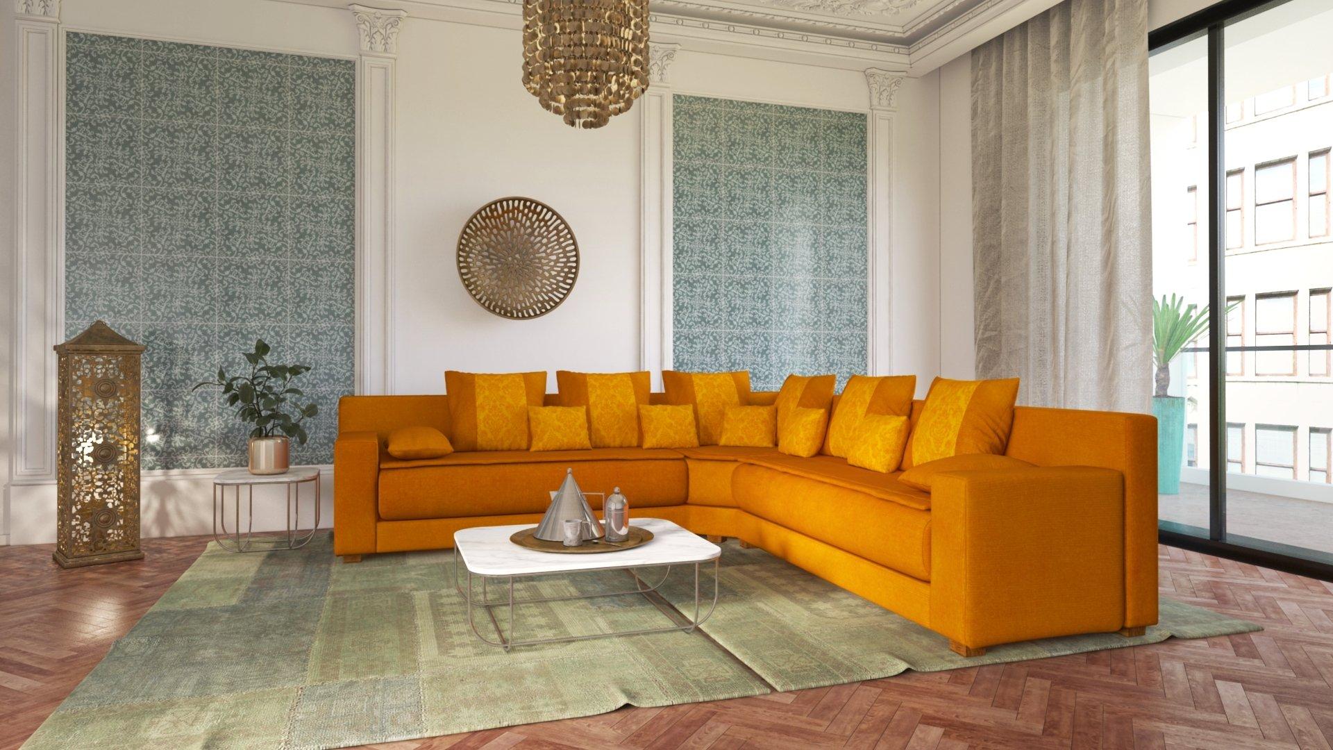 salon oriental moderne marocain