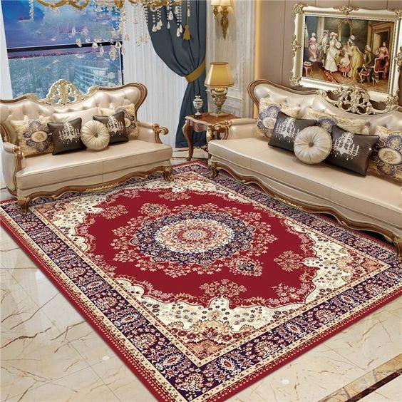salon oriental moderne tapis turc