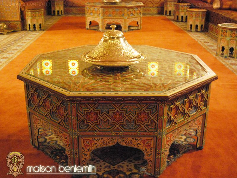 Table basse pour salon marocain